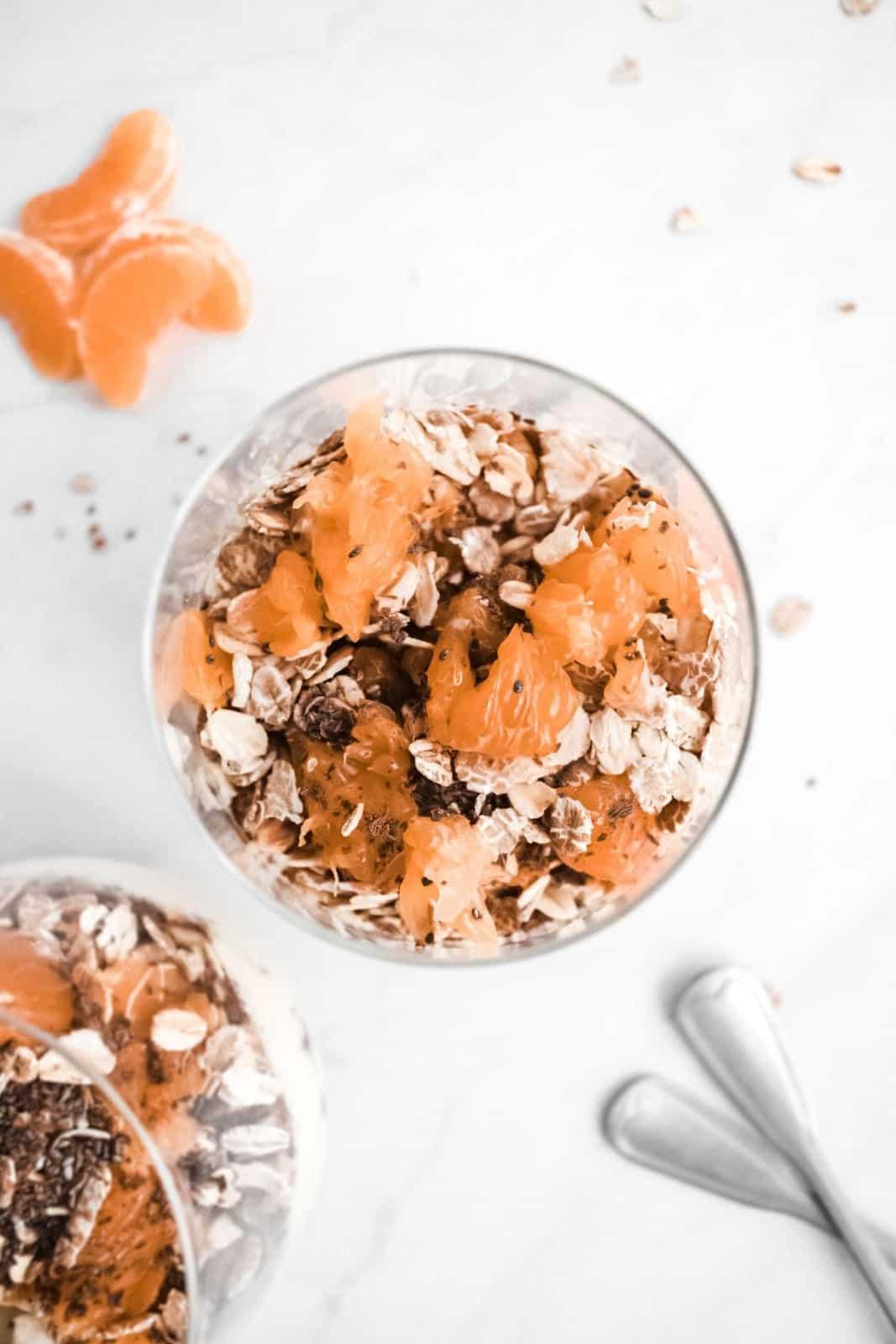 Tangerine Yoghurt & Fruit Parfait (Vegan)