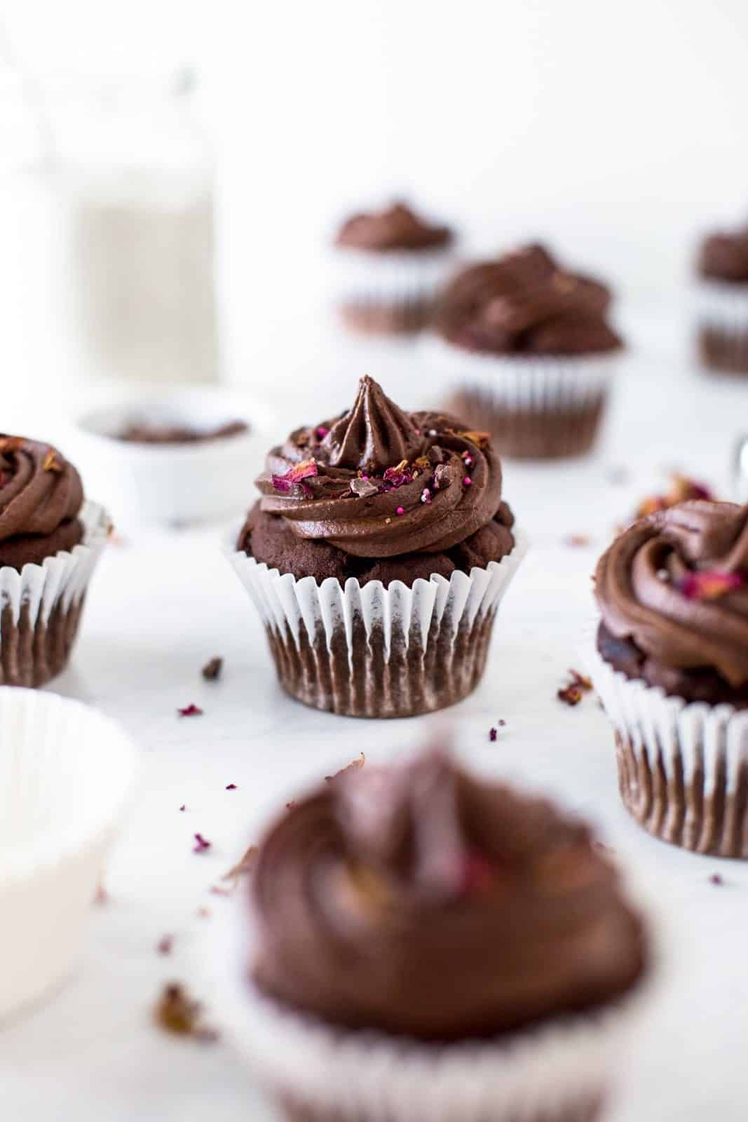 double-chocolate-vegan-cupcake