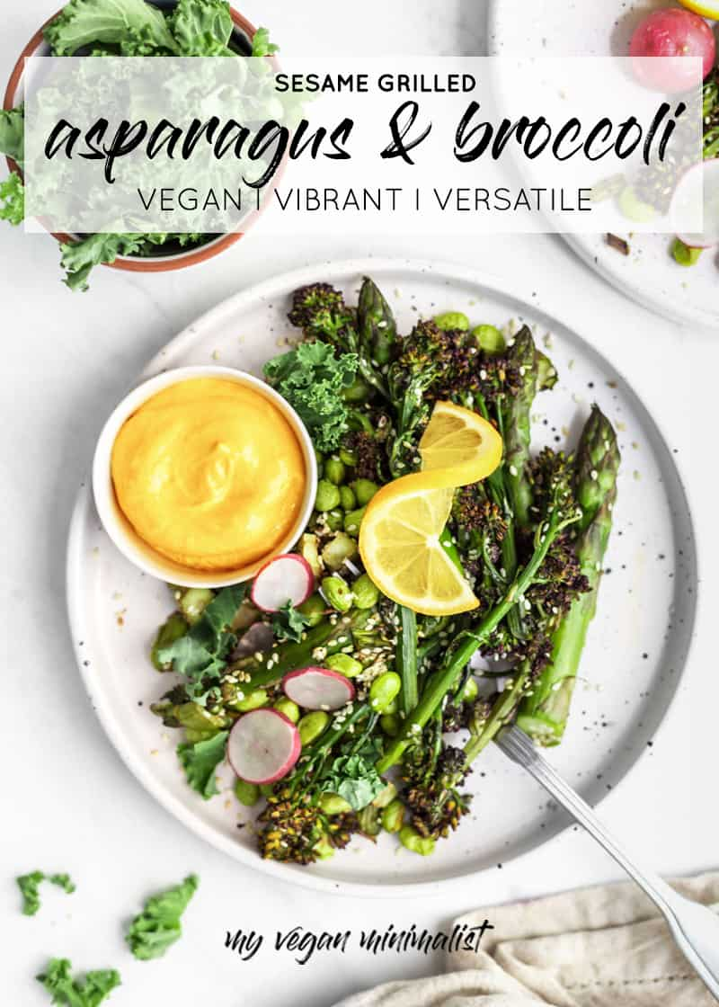 sesame-grilled-asparagus-broccoli