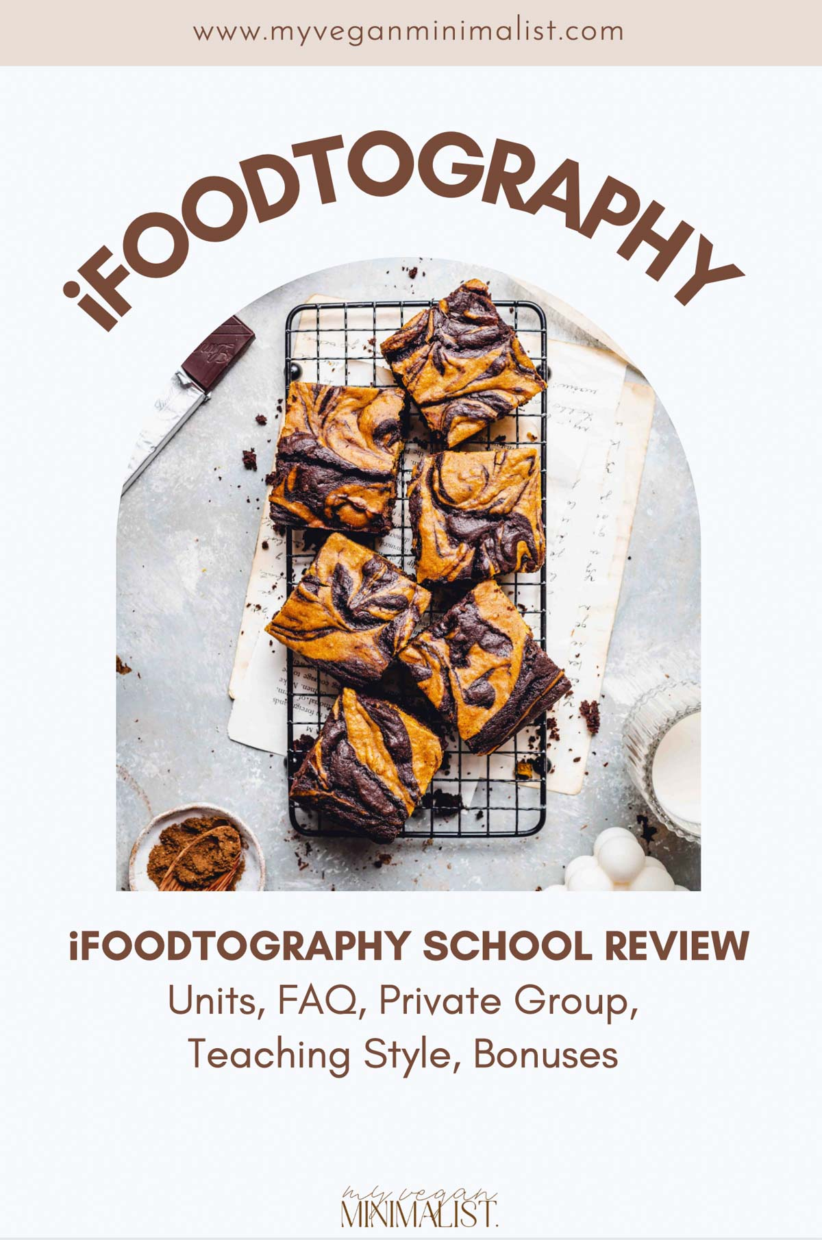 A graphic containing the text 'iFoodtography' with an image of a brownie in the middle.